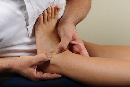 Massage of an ankle