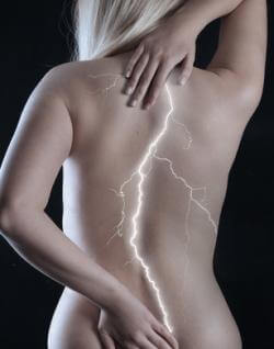 Man with back muscle pain
