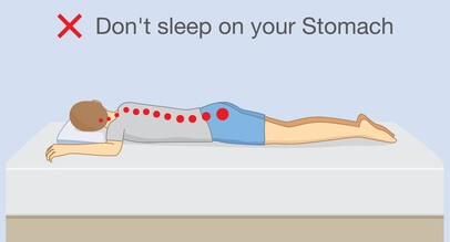 Don't sleep on your stomach